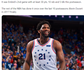 Embiid performance G3